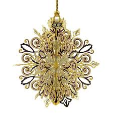 2015 chemart annual snowflake brass ornament