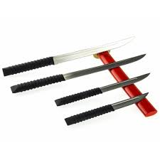 samurai sword kitchen knives set and stand coltelli katana ninja