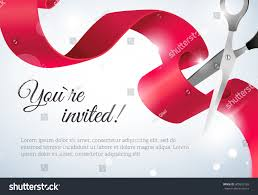 Invitation Card Of Opening Ceremony You Invited Invitation Card Curving Ribbon Stock Vector 402652165