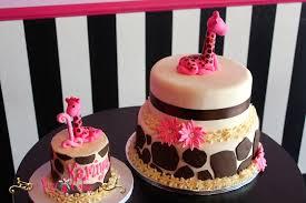 Birthday Cake 2 Tier Baby Shower Giraffe Smash Cake Pink U2013 Pixy Cakes