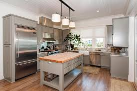 free standing islands for kitchens freestanding gray kitchen island with butcher block top cottage in