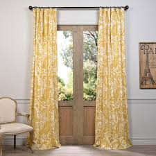 Blackout Yellow Curtains Decorating Elegant Interior Home Decorating Ideas With 108