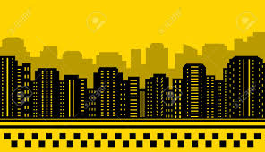 backdrop city yellow backdrop for city taxi transport background royalty