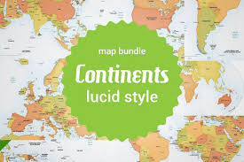 European Continent Map by Bundle Of 8 Vector Continent Maps Graphics Creative Market