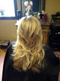 short layers all over hair going to get some more of this blond cut out in my very long hair