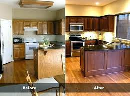 kitchen cabinets restaining restaining kitchen cabinets cost www allaboutyouth net