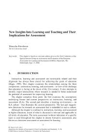 Resume Qualities by New Insights Into Learning And Teaching And Their Implications For