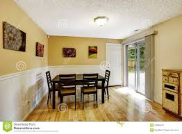 dining room with exit to backyard patio area stock image image