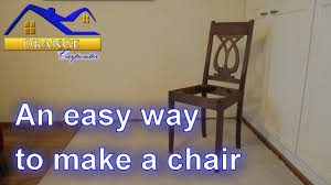 amazingly easy way to build a chair tips and tricks youtube