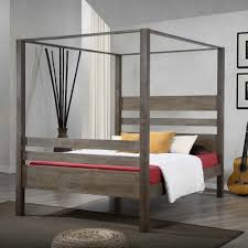 canopied bed full size canopy beds for 2017 including build a
