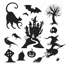 set of various vector halloween design elements royalty free