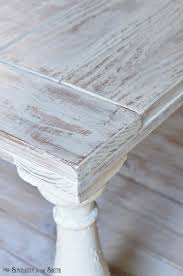 White Painted Coffee Table by How To Distress Furniture With Milk Paint And Wet Rag Sanding