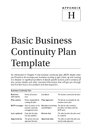 small business disaster recovery plan template free