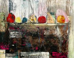 agrumi size large artwork dripping palette knife oil painting