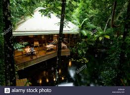 the dining room and restaurant at the daintree eco lodge u0026 spa