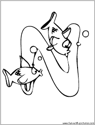 fish n coloring page alphabet n pinterest fish