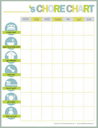 chore chart for kids printable chore chart parents and age