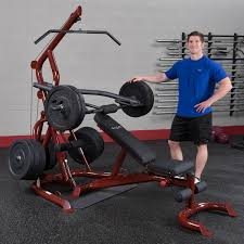 Leverage Bench Press Glgs100p4 Body Solid Corner Leverage Gym Package Body Solid