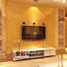 Wallpaper Livingroom by Aliexpress Com Buy Silver Gold Fashion Brief Pvc Wallpaper Tv