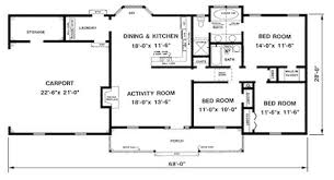 1300 square foot house 1 bedroom 2 bath 1300 sq ft farmhouse plans google search house