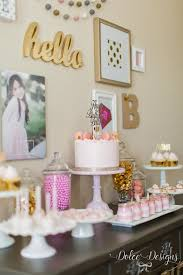 Pink And Gold Table Setting by Modern Pink And Gold Birthday Party Dolce Designs