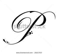 letter p tattoo designs letters font