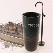 Floor Mount Tub Faucets Antique Brass Floor Mount Standing Bathtub Faucet Single Handle