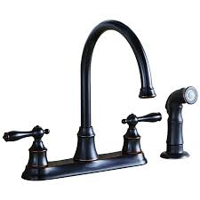 lowes kitchen faucets shop aquasource rubbed bronze 2 handle high arc kitchen faucet