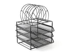 Desk Tray Organizer by Mesh Metal Stackable 3 Tier Desk Document Tray Organizer