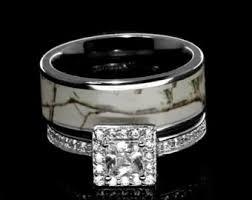 camo wedding ring sets for him and camo promise ring etsy