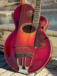 gibson style u harp guitar sunburst reverb