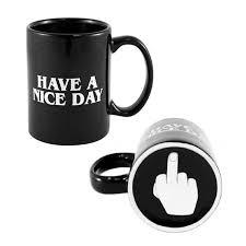 amazon com bonbon have a nice day coffee mug middle finger funny