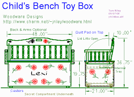 Diy Toy Box Bench Plans by Toy Chest Bench Design Diy Blueprint Plans Download Wood Stains
