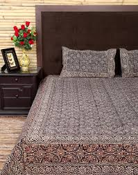 queen size bedspread cotton floral vintage bed sheet with two