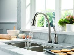 Best Kitchen Faucet by Delta 980t Sd Dst Pilar Single Handle Pull Down Kitchen Faucet