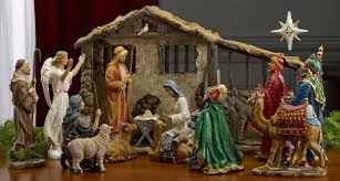 decorating chic nativity sets with seated camel for christmas