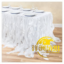 Pleated Table Covers Ruffled Table Skirt Ruffled Table Skirt Suppliers And