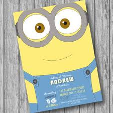 diy minion invitations best minion birthday invitations products on wanelo