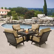 Patio Fireplace Table Patio Conversation Set With Fire Pit Table Home Outdoor Decoration