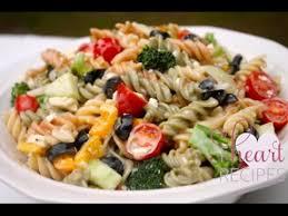 Pasta Salad Recipes With Italian Dressing The Best Creamy Italian Pasta Salad Recipe I Heart Recipes Youtube