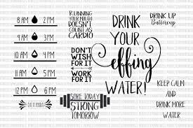 drink svg water bottle svg files water tracker fitness decal fitness svg