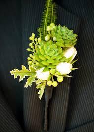 Succulent Boutonniere Flower Favies Succulent Boutonniere Flourish Wedding Flowers