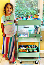 how to set up a kids arts crafts cart natural beach living