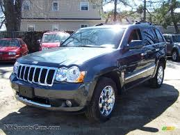 dark brown jeep 2008 jeep grand cherokee overland 4x4 in steel blue metallic