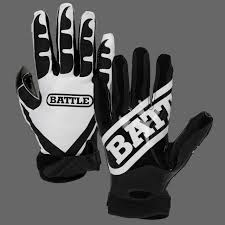 Flag Football Set For Adults Battle Receivers Football Gloves Blk Wht Battle Sports