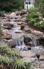 pictures of outdoor rock waterfalls house design ideas