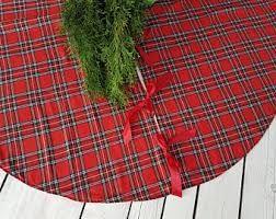 plaid tree skirt plaid tree skirt etsy