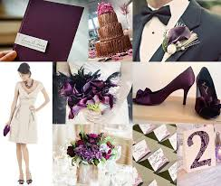 Plum Wedding Plum And Beige Wedding Inspiration Groom Sold Separately