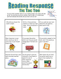 guidelines in writing a reaction paper five minute reading responses scholastic reading response tic tac toe