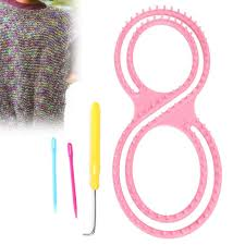aliexpress com buy 8 shaped knitting loom tool pink plastic